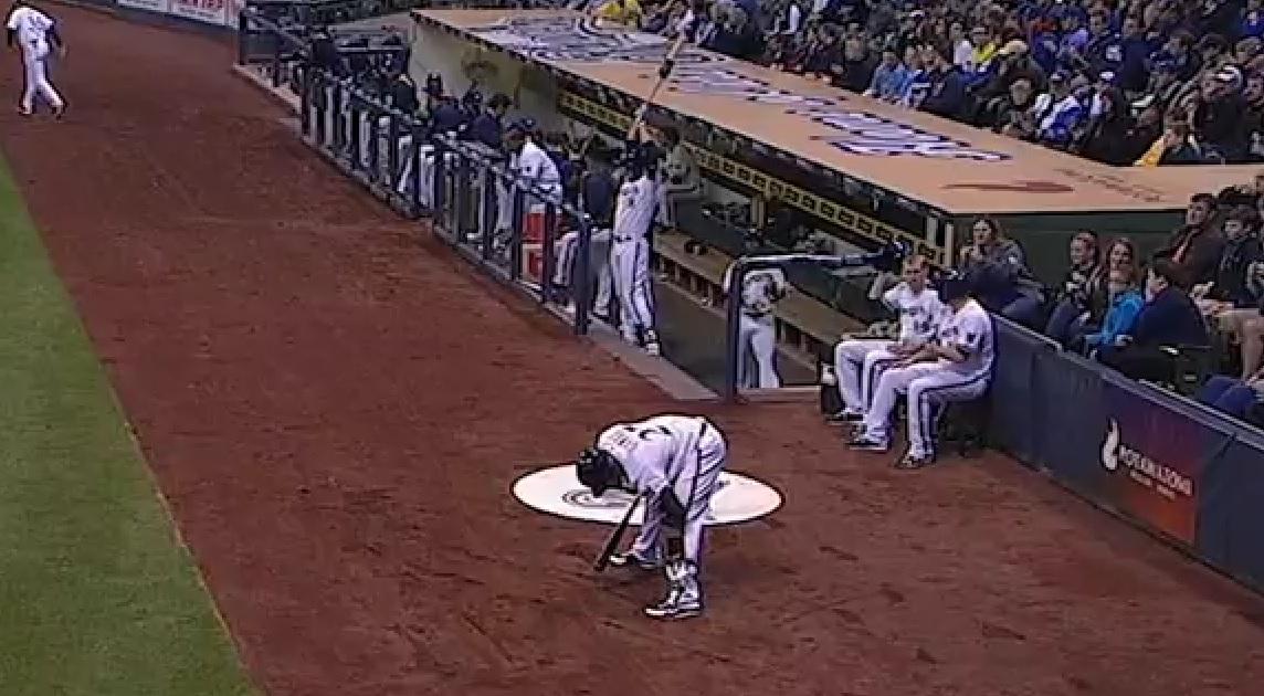 Braun hits Segura in face with bat