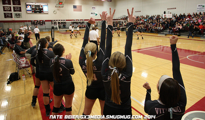 Advancing in tourney, simple for Viterbo volleyball