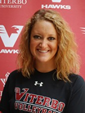 Viterbo setter Brianna Brinkman left Thursday's game early, but will play Friday