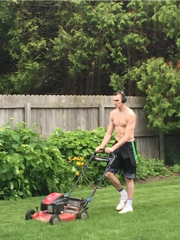 From NBA to lawnmower man