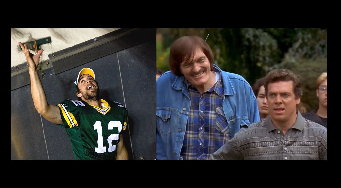 If you haven't seen the Aaron Rodgers-Shooter McGavin Twitter war over Happy Gilmore, you're welcome
