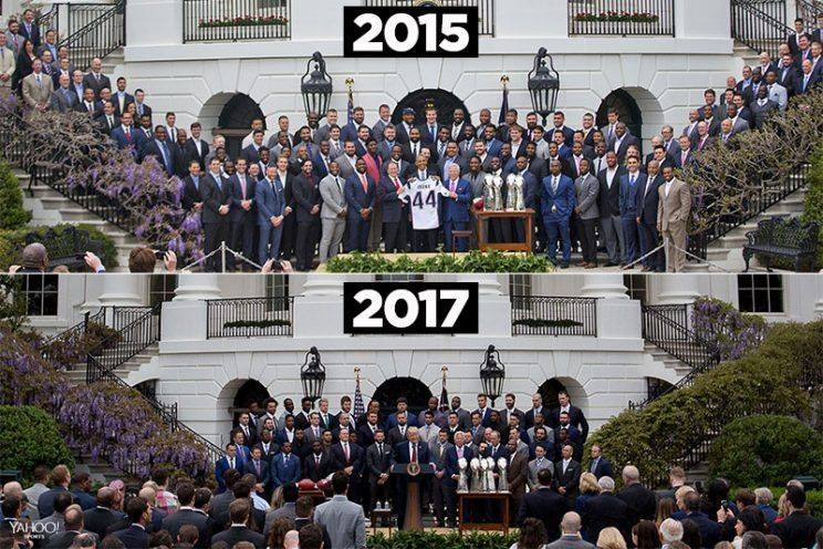 Over two dozen Patriots didn't show up to Trump's White House ceremony
