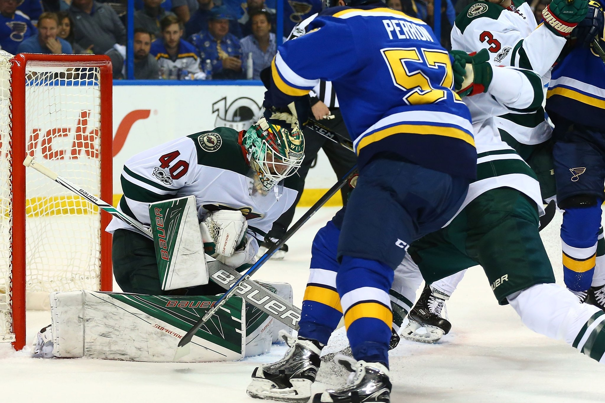 Wild avoid sweep by Blues behind Dubnyk