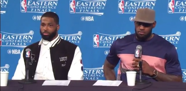 LeBron struggles, exchanges words with fan, also critical with reporter