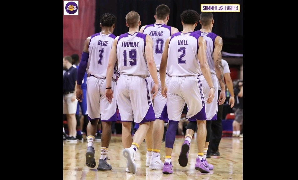 Matt Thomas, Lakers won't have Lonzo Ball tonight in Summer League championship