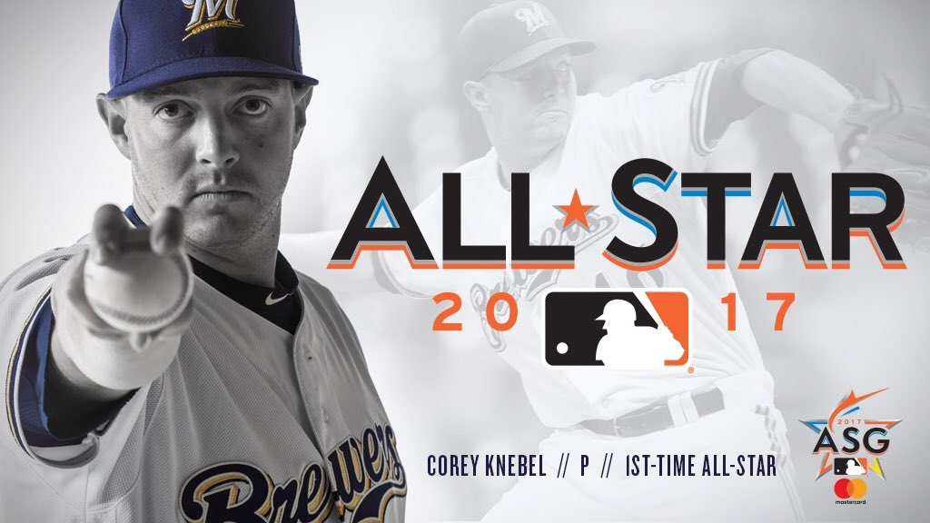 Brewers closer Corey Knebel lone Milwaukee participant in tonight's all-star game