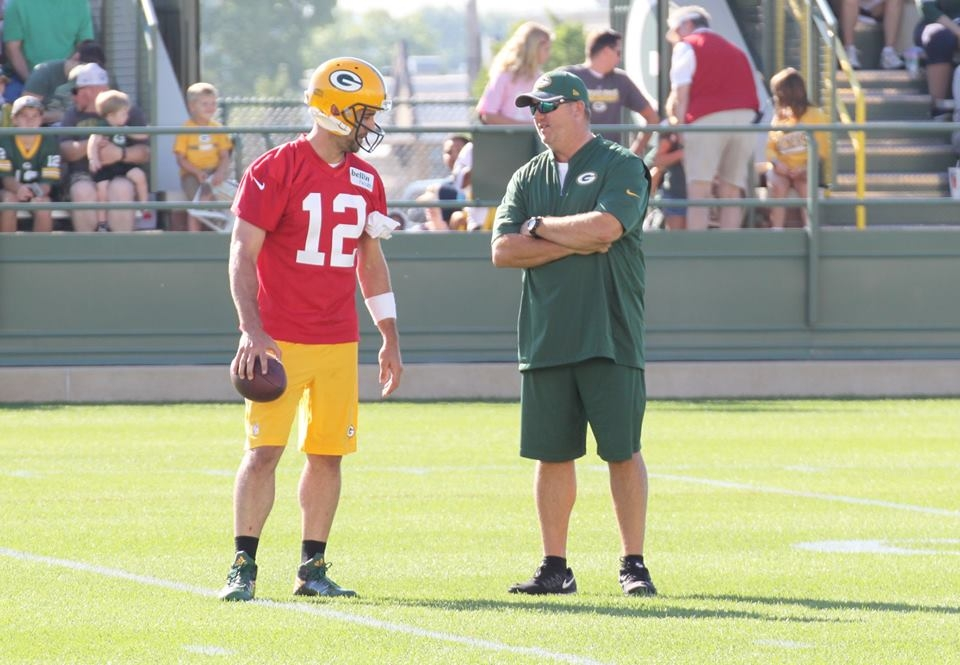 Aaron Rodgers looks way down field and hopes to play at 40