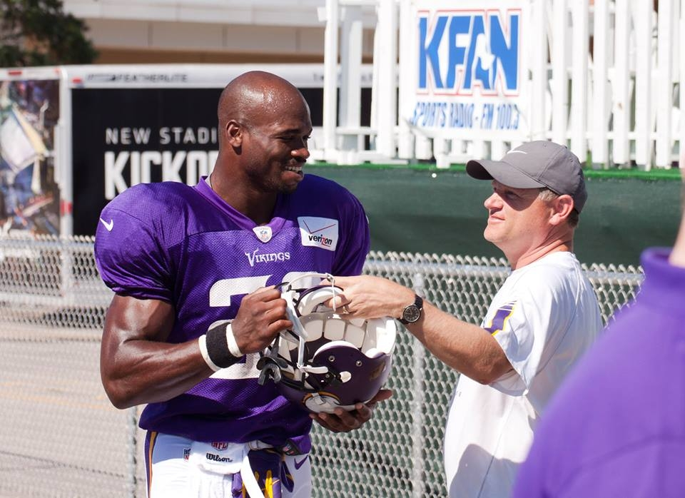 Peterson's return marked with boos, not yards