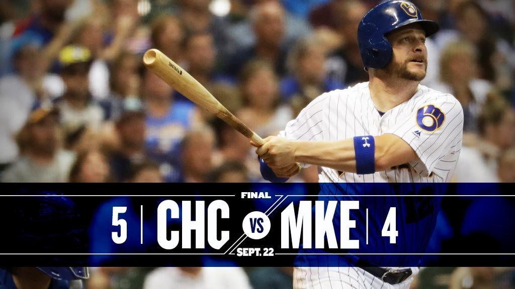 Brewers suffer back-to-back, 10-inning losses to Cubs