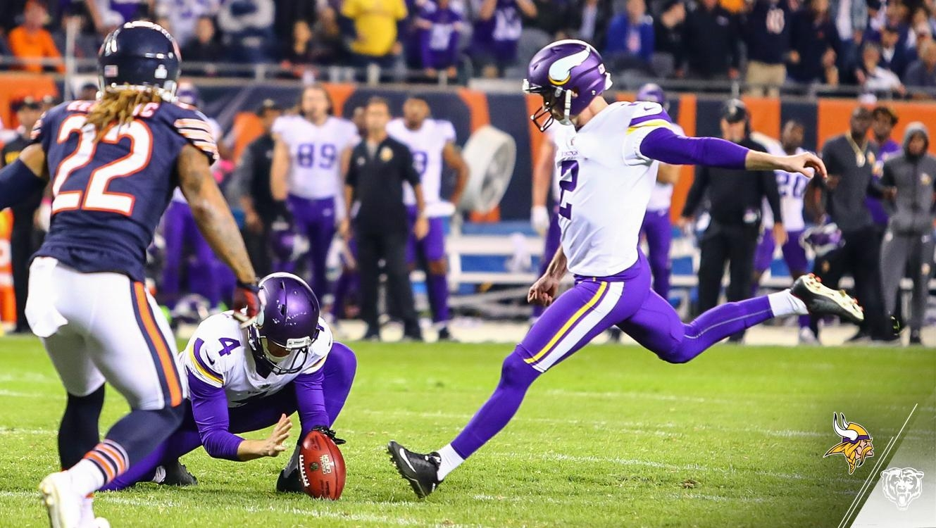 Trubisky INT leads to Vikings winning FG in final seconds