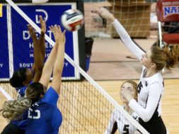 Viterbo volleyball pool play 2