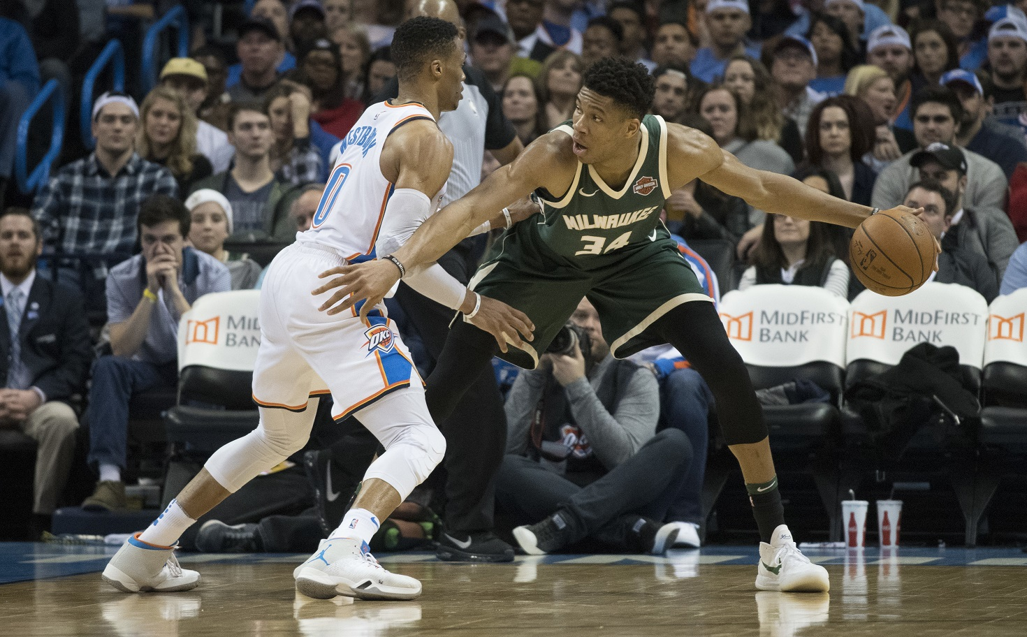 WATCH: Giannis dunks on Westbrook for the win. No he didn't step out of bounds