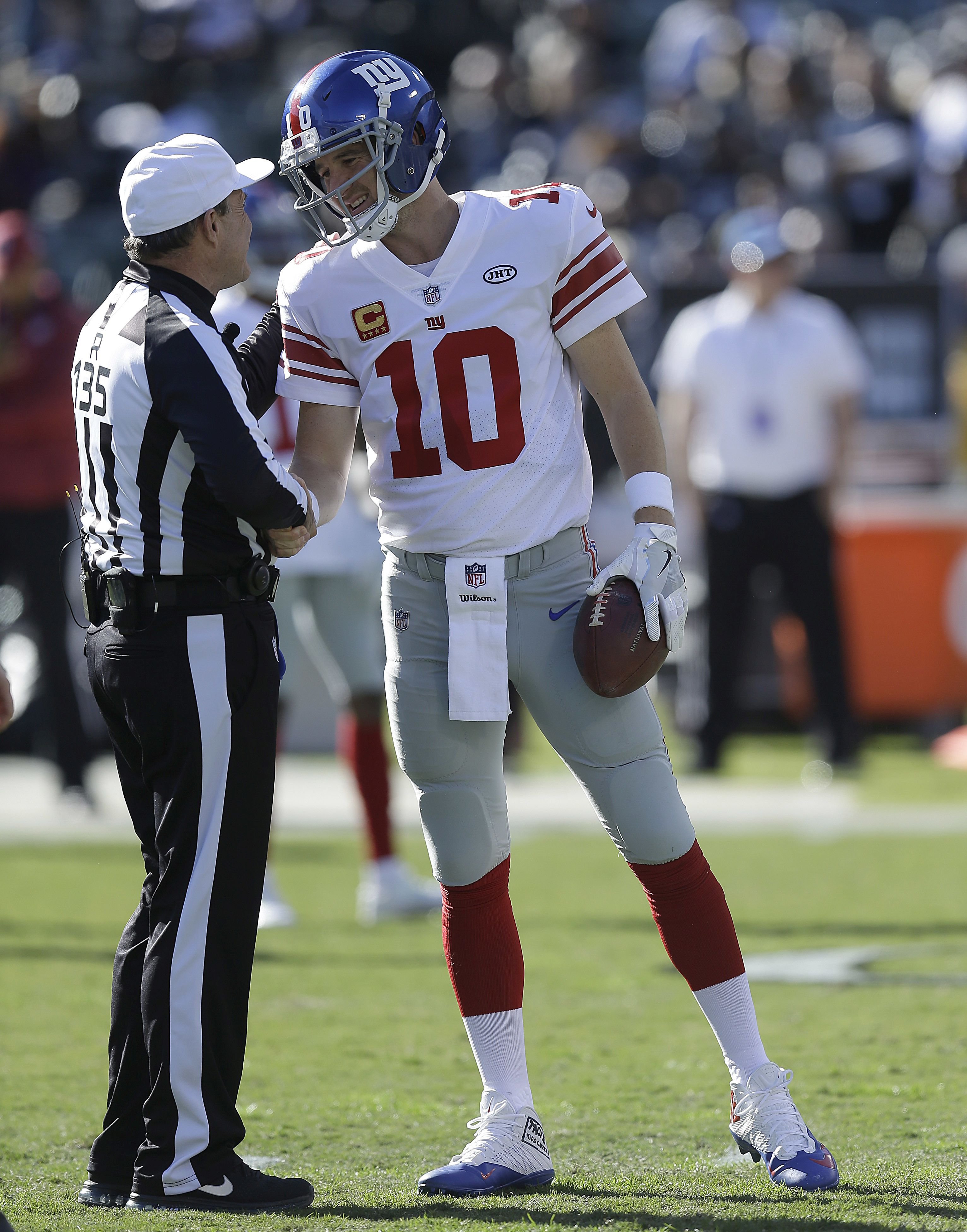 Eli Manning Forced to Sit