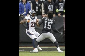 Raiders Crabtree Broncos Talib fight AP