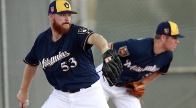 Brewers Brandon Woodruff 53 Chase Anderson AP