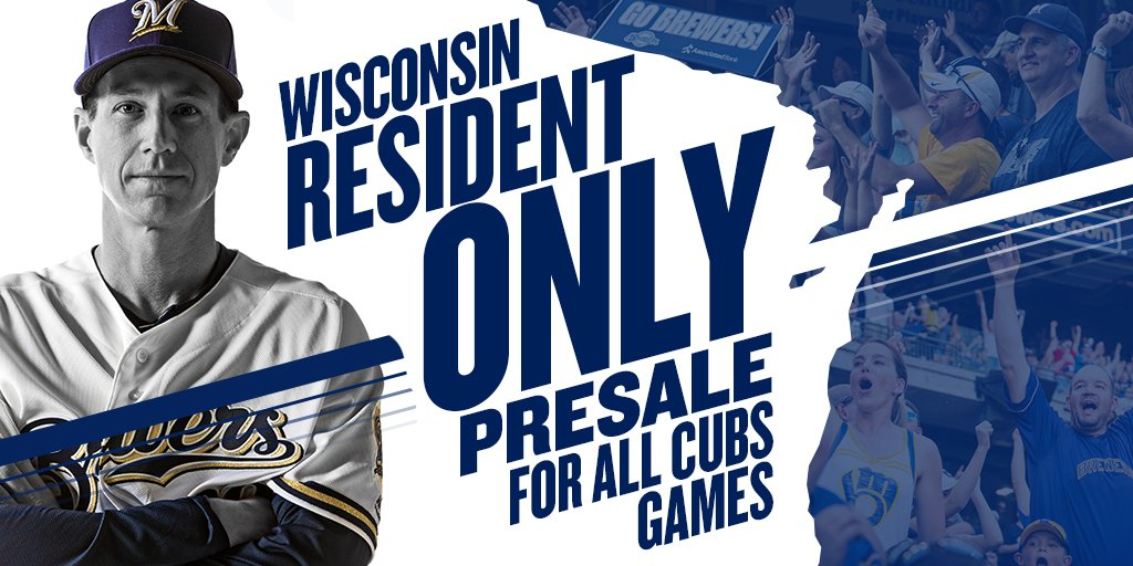 Brewers give Wisconsin residents 1st crack for tix vs. Cubs