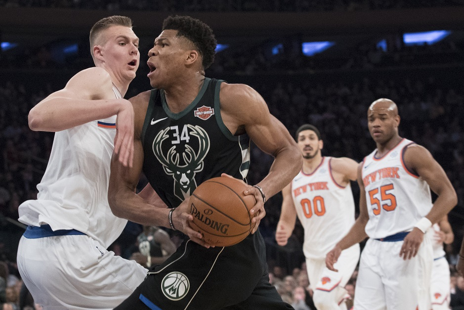 DUNK OF THE YEAR: Giannis leaps over Hardaway Jr. on lob from Middleton