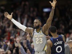 Cavs LeBron James Timberwolves Teague AP