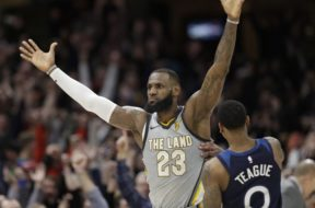 Cavs LeBron James Timberwolves Teague AP