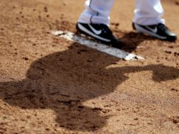MLB Pitcher Mound shoe shadow generic AP
