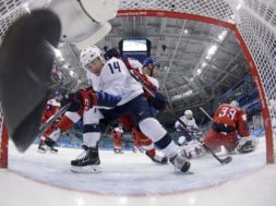 Olympics US Czeck Hockey AP