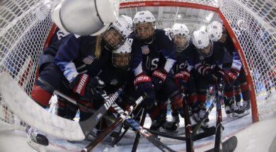 Olympics US women's hockey AP