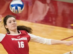 Badgers volleyball Dana Rettke UWBadgers