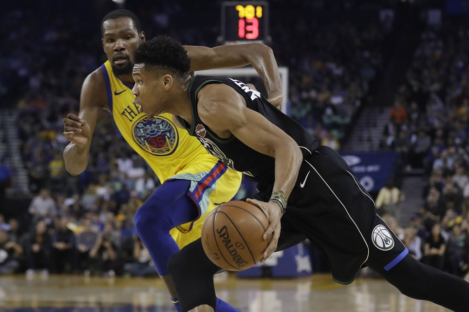 Kevin Durant ejected in return as Bucks rout Warriors