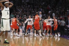 Syracuse beats Mich. State NCAA tourney 2018 AP