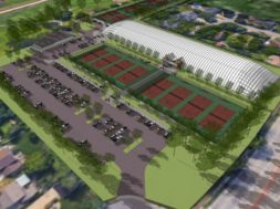 Tennis courts La Crosse rendering