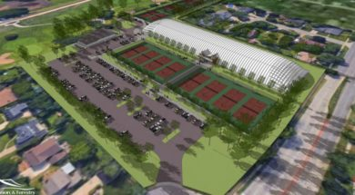 Tennis courts La Crosse rendering