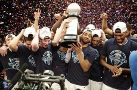 Villanova NCAA hoops celebrate AP