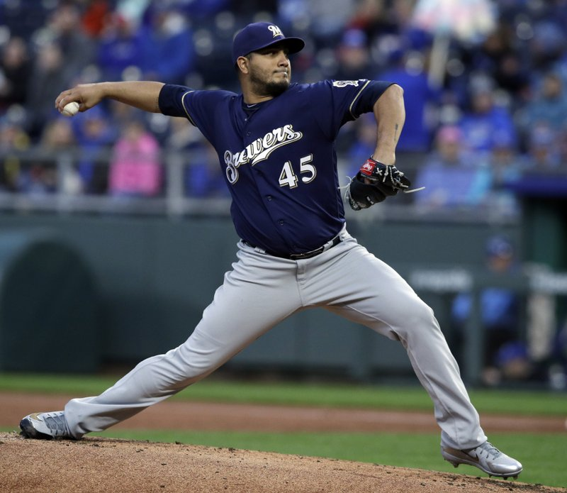 Chacin picked to start Brewers' opener against St. Louis