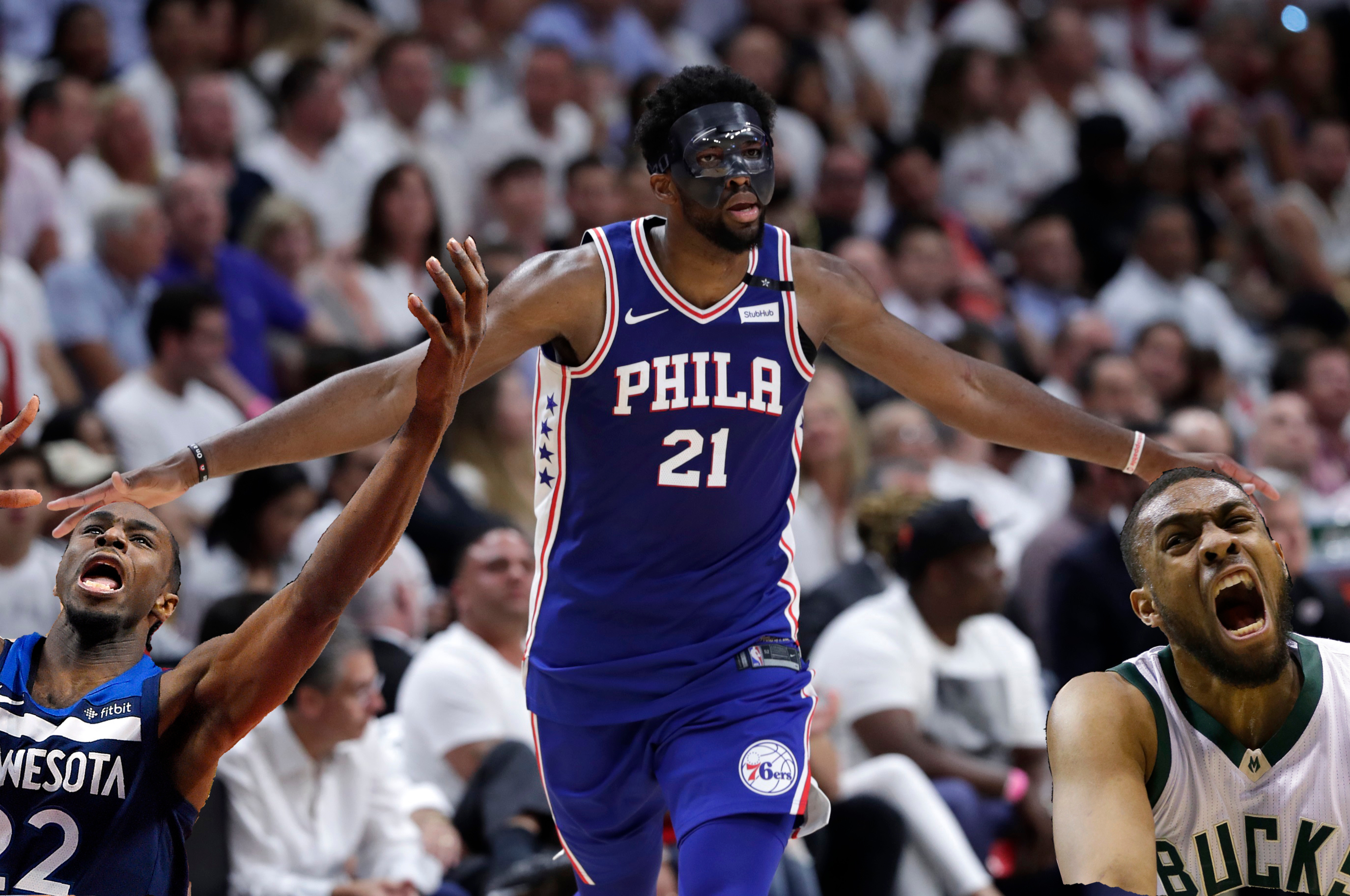EMBIID PLAYS, meaning only took 4 years for the Top 3 picks of 2014 draft to make playoffs