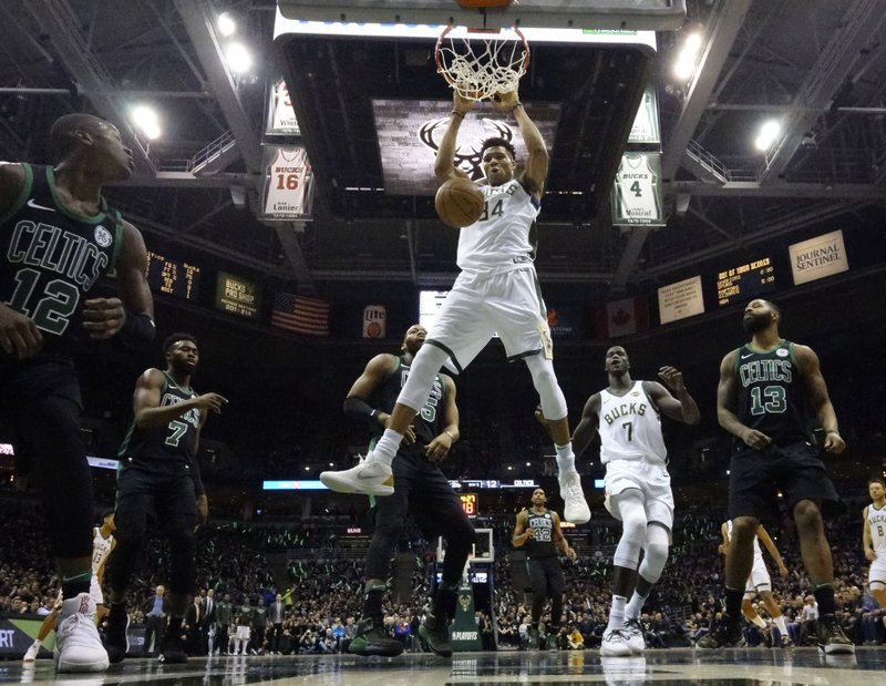 Tied up: Giannis' tip-in lifts Bucks over Celtics in Game 4