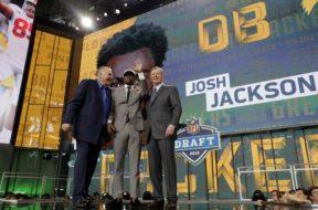 Packers Josh Jackson Jerry Kramer Roger Goodell NFL draft AP