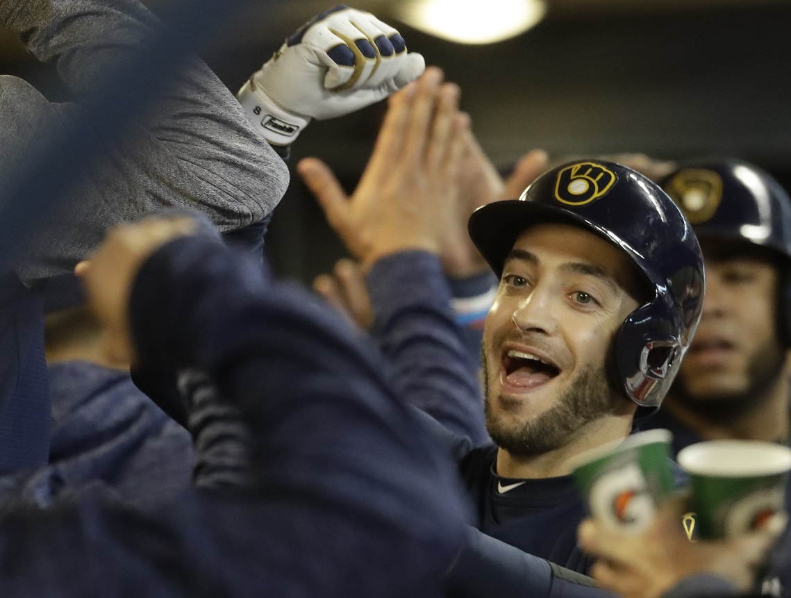 Miami's Brinson, key piece of Brewers' Yelich trade, hits 2 HRs … against old team; Braun gets 1,000th RBI with pinch-hit HR