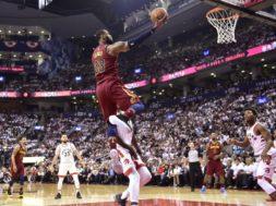 LeBron James Game 2 Raptors AP