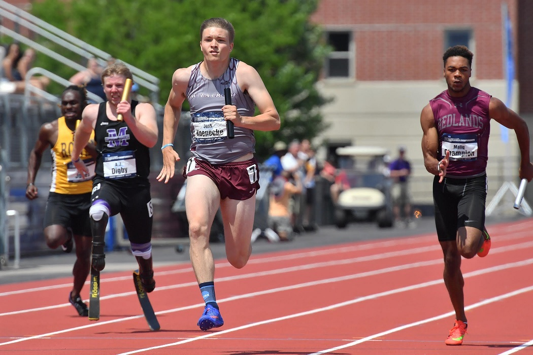 UW-L's 400 relay gets top time in prelims at NCAA DIII national championships