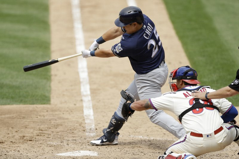 Day after Ji-Man Choi's grand slam helps Brewers get win, the 1B/OF is traded to Rays
