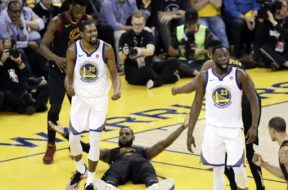 LeBron Durant charge no charge NBA Finals AP