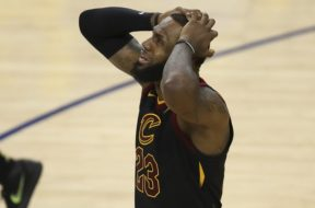 LeBron James crying AP