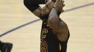 LeBron James crying AP