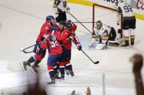NHL Capitals celebrate Finals AP