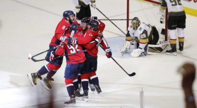 NHL Capitals celebrate Finals AP