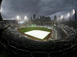 Pirates PNC Park rain out AP