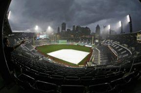 Pirates PNC Park rain out AP