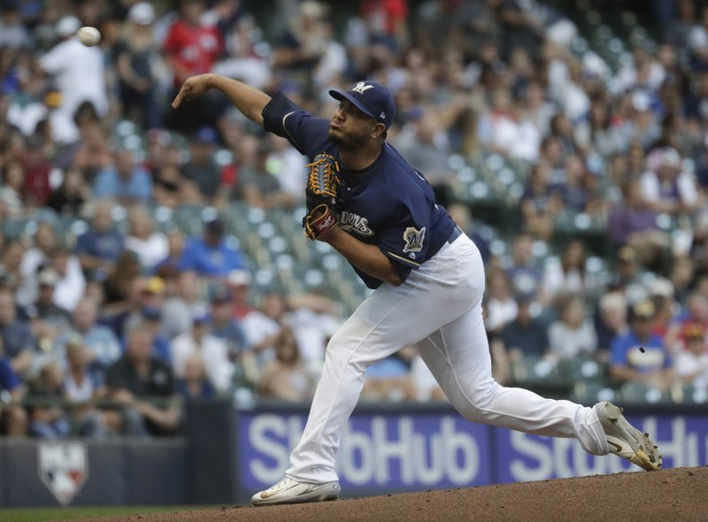 Chacin strikes out 9, as Brewers take down Nationals