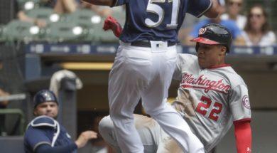 Nationals Brewers Baseball