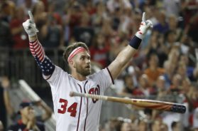 Bryce Harper HR derby win AP